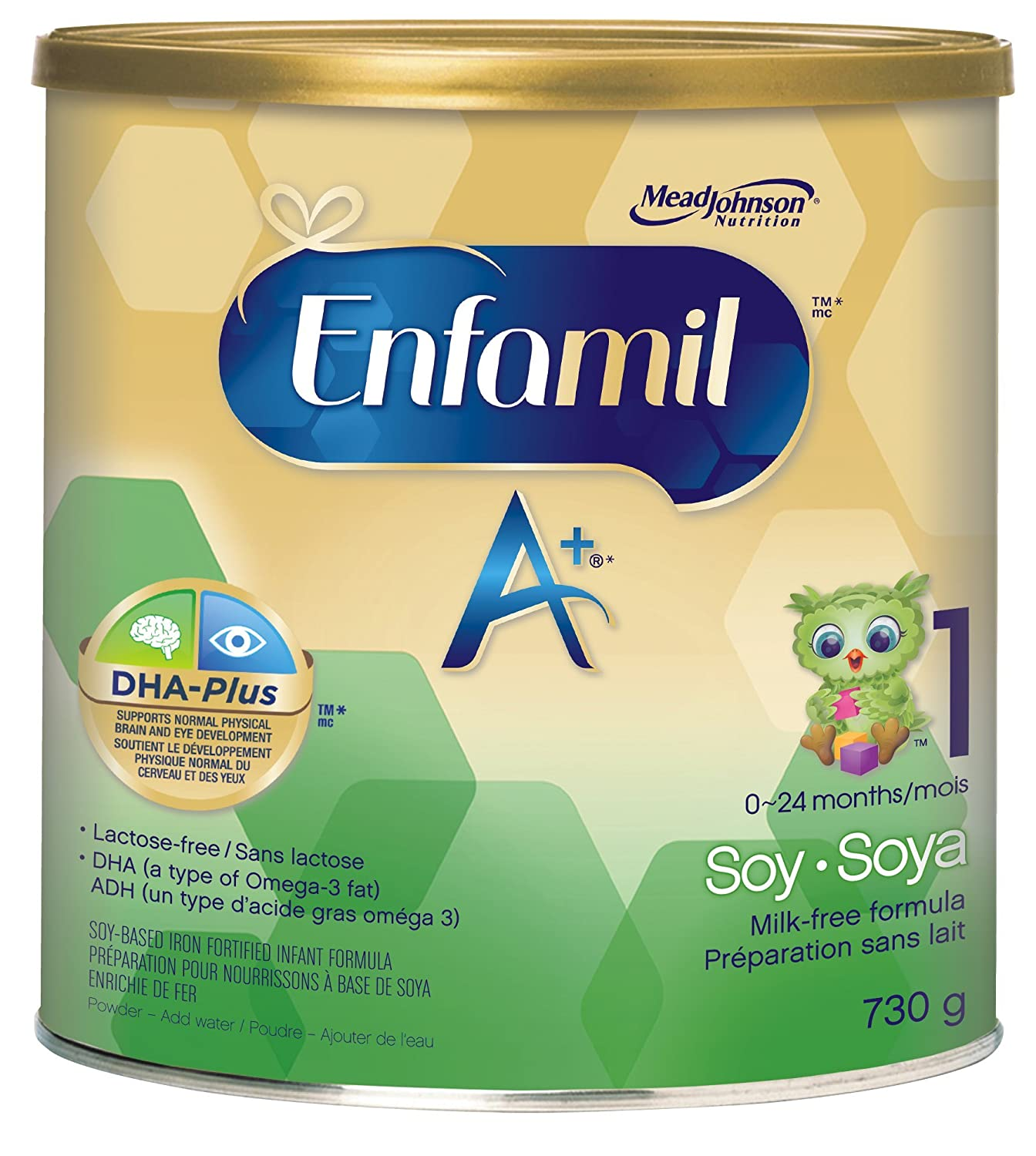 Enfamil A+ Soy Infant Formula, Powder, 730g