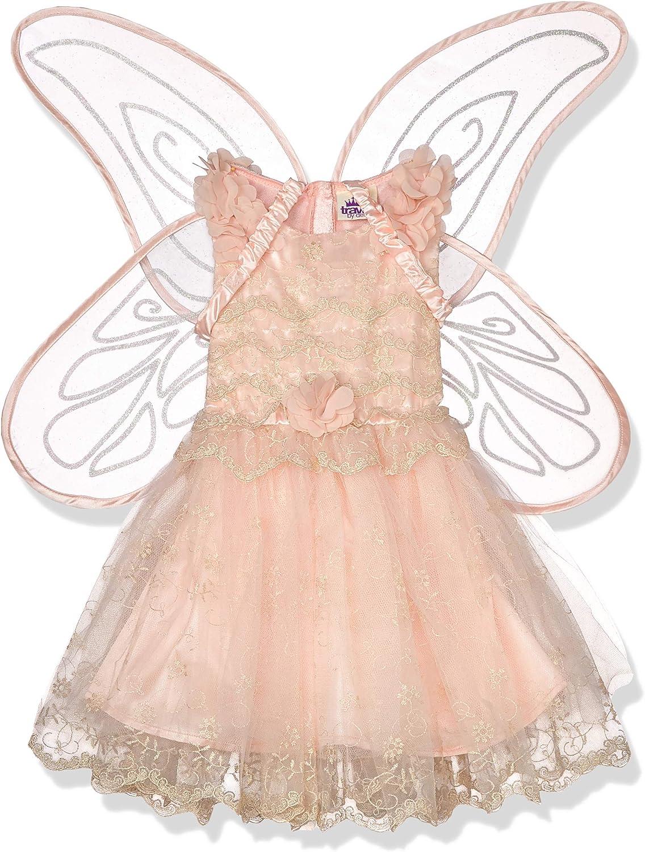 amscan- Classic Peach Fairy Costume with Detachable Glitter Wings-Age 6-8 Years-1 PC Disfraz clásico de Hada de melocotón con alas Desmontables de Purpurina – 6 – 8 años – 1 Unidad. (9905939)