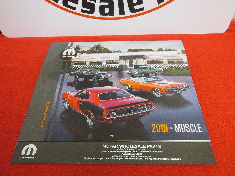 Amazon.com : 2016 MOPAR Muscle Car 14 month Calendar CLASSIC MOPAR ...