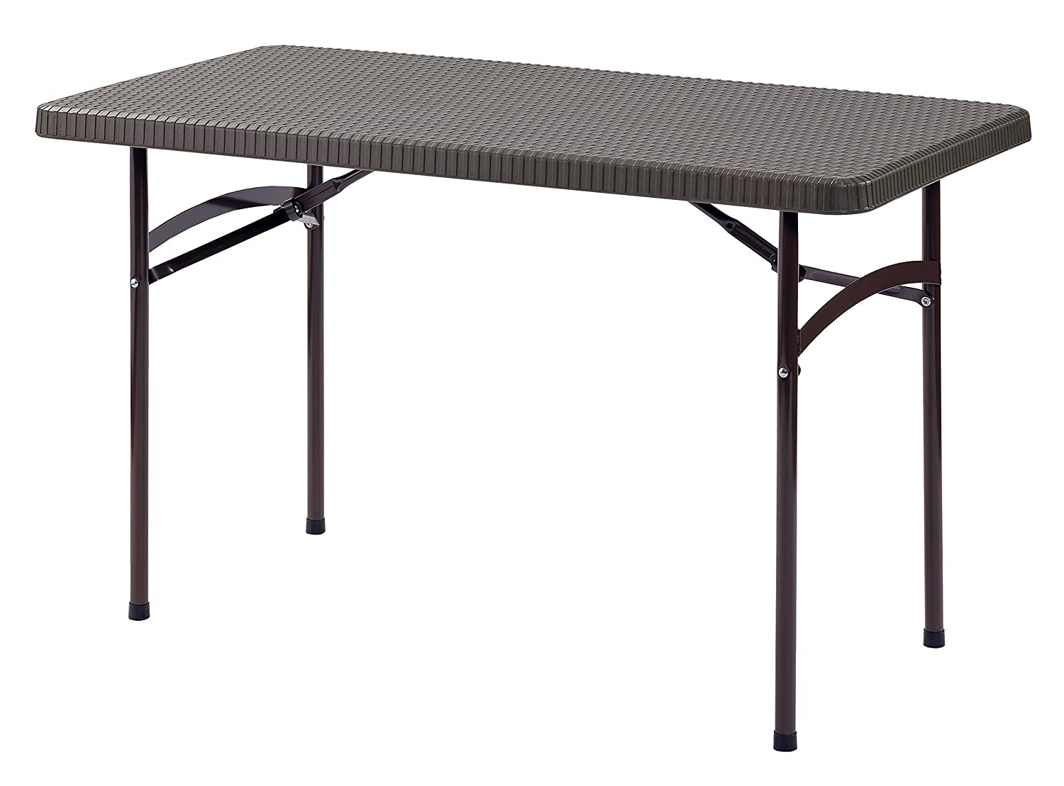 Sandusky Lee PT4824-BR 2 . L x 4 . W Plastic Folding Table in Brown, 29 Height, 48 Width, 24 Length