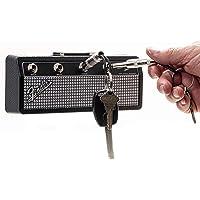 P Pluginz Fender Jack Rack- Mural Ampli Guitare Porte-clés Comprend 4 Guitares Plug Keychains et Kit de Fixation Murale