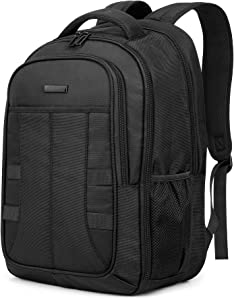 SHIELDON Travel Laptop Backpack, 27L 15-15.6 inch College School Backpack, Anti-Theft Water Repellent Business Backpack with RFID Pocket, Large Schoolbag for Men Women, Black