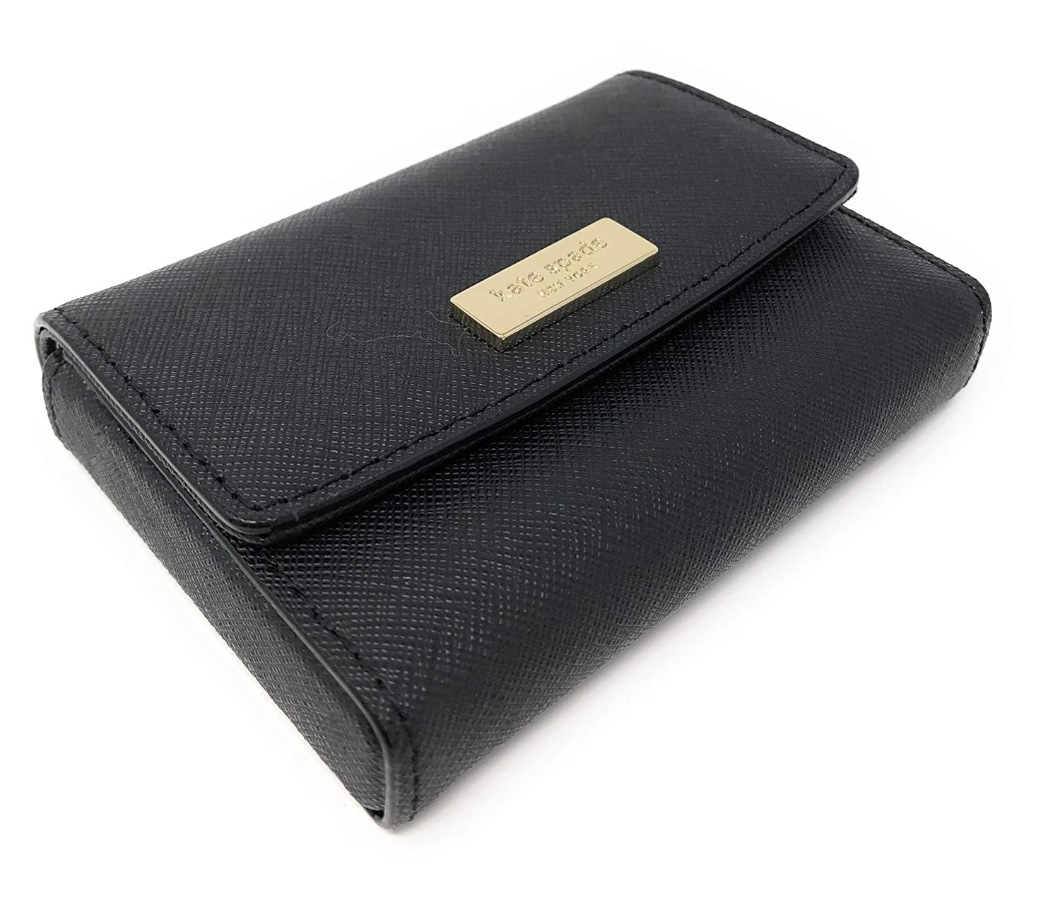 Kate Spade Newbury Lane Large Holly Business Card Case Holder WLRU2350 (Black) 00_FEGEPXQN_02