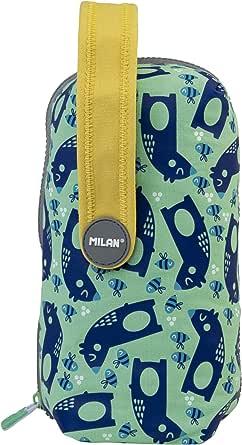 MILAN Kit 4 Estuches Con Contenido Net&lit Verde Estuches, 22 cm, Verde: Amazon.es: Ropa y accesorios