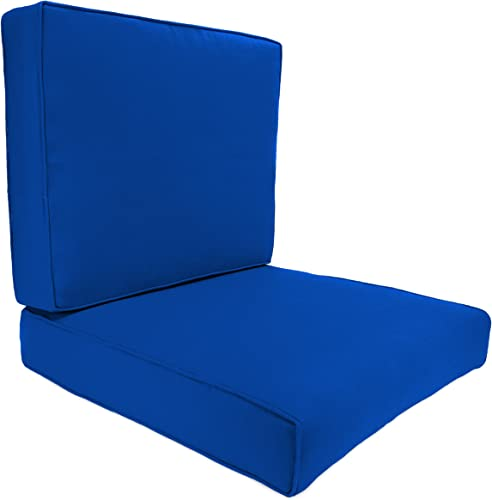 Jordan Manufacturing Deep Seat and Back Boxed Chair Cushion