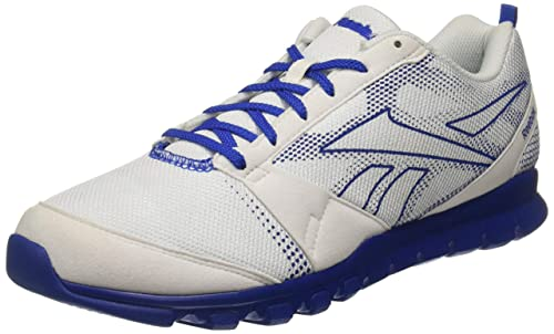b90d051cf98 Reebok Men s Superlite Traction White Vital Blue Running Shoes-10 UK India (
