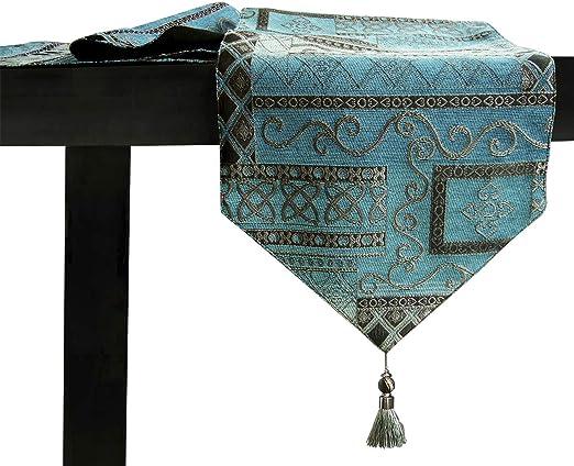 Artbisons Mesa de comedor hecha a mano Mesa Lino de mesa (183x33cm ...