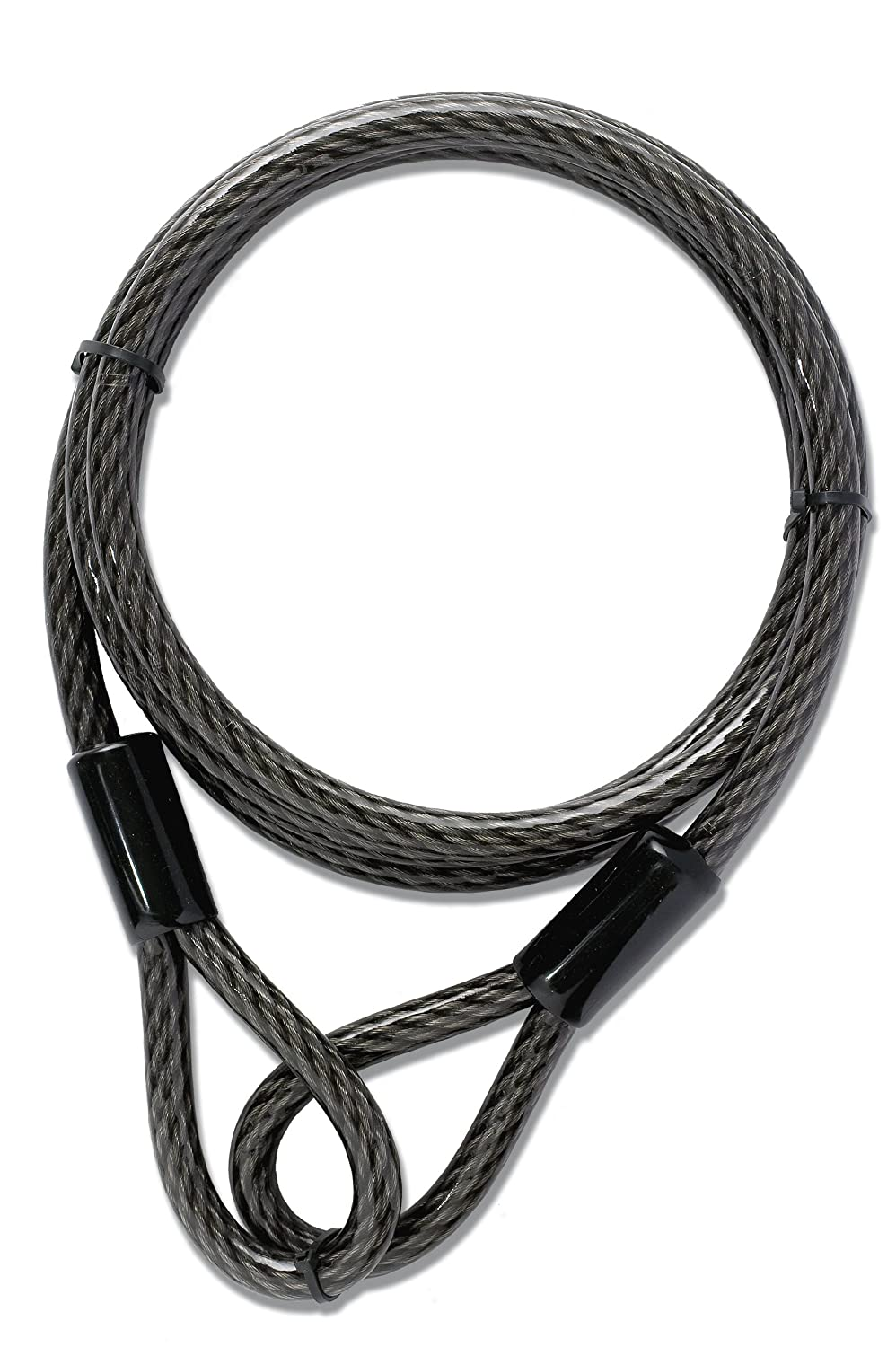 Yale Double Looped 8mm Thick 2m Length Flexible Extension Steel Cable Bike Bicycle Lock Toolbank YALYCBL18200