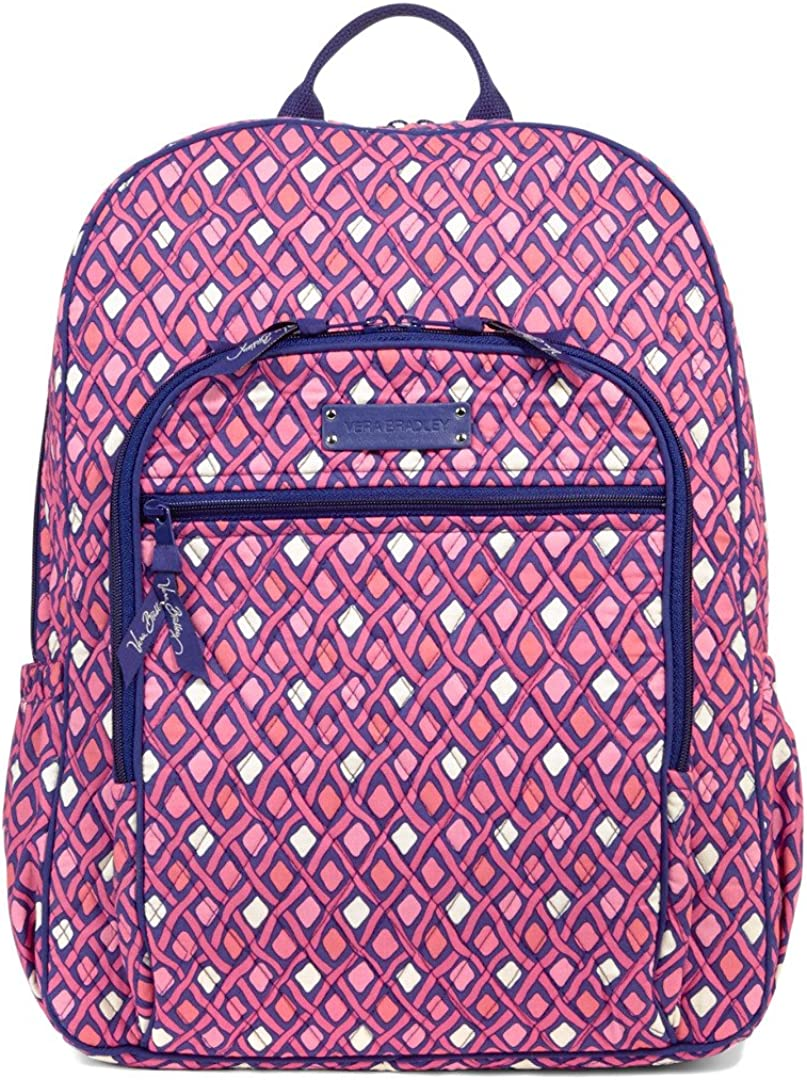 Vera Bradley Katalina Pink Diamonds Campus Backpack