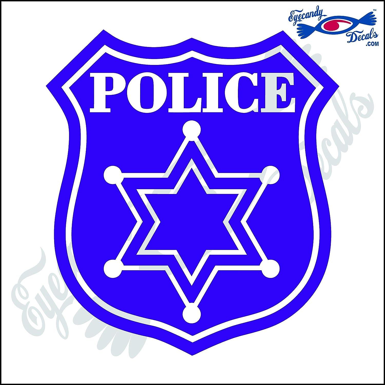 POLICE BADGE STYLE 5インチ トールデカール パープル ECD-SVC39-PR  パープル B00PHXWEAE