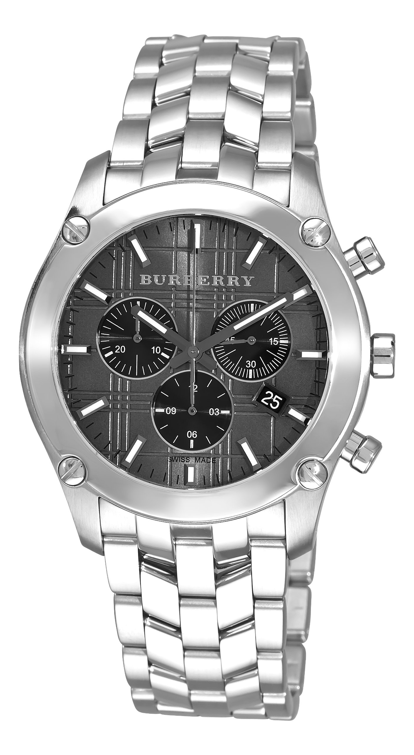 Burberry Men's BU1850 Heritage Gent Grey and Black Chronograph Dial Watch