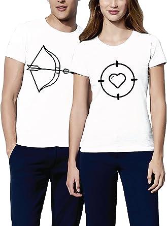 VIVAMAKE® Pack 2 Camisetas para Mujer y Hombre Originales con ...