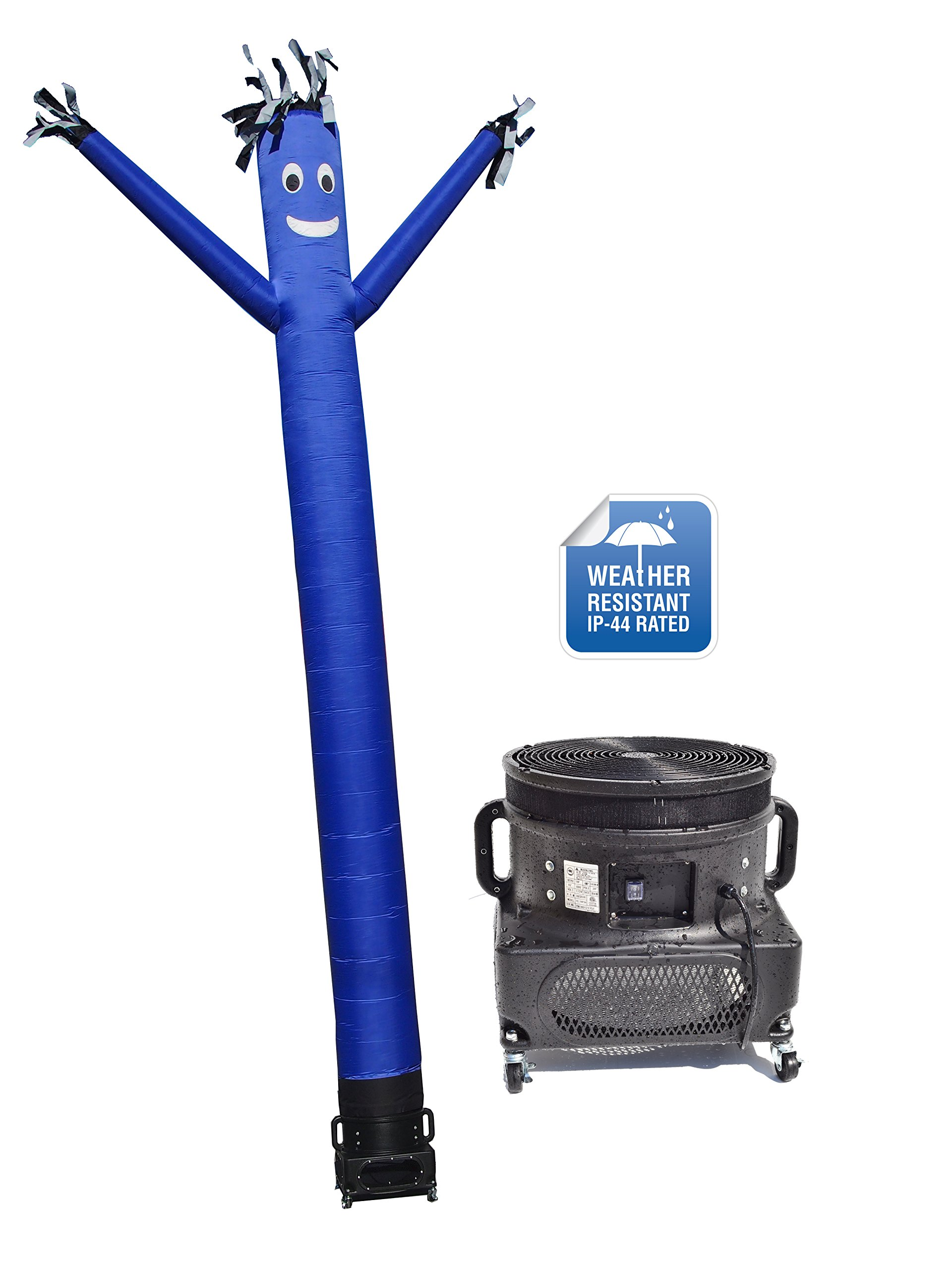 LookOurWay Air Dancers Inflatable Tube Man Complete Set with 1 HP Weather-Resistant Sky Dancer Blower, 20-Feet, Blue
