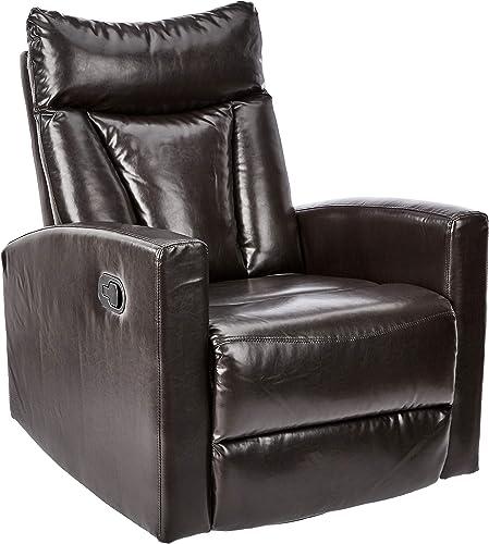 JC Home Swivel Glider recliner, one size, Dark Brown