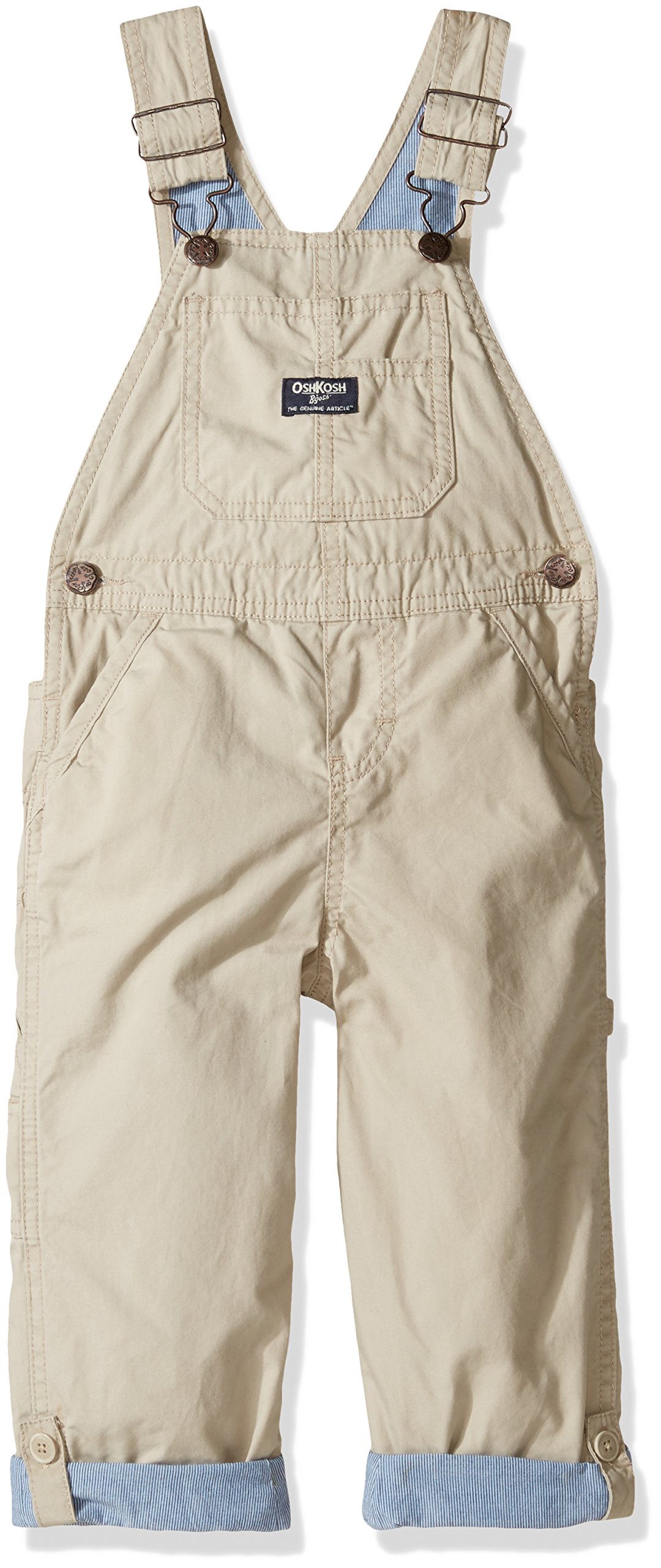 OshKosh B'Gosh Boys' Overall 21830711, Brown, 3T Toddler by OshKosh B'Gosh (Image #1)