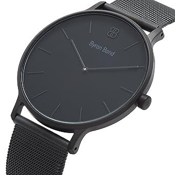 41mm Mens Watch - Ultra Thin Case Minimalist Waterproof Stainless Steel Dress Watch - Classic Fashion