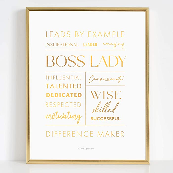 Boss Lady Desk and Wall Art in 7