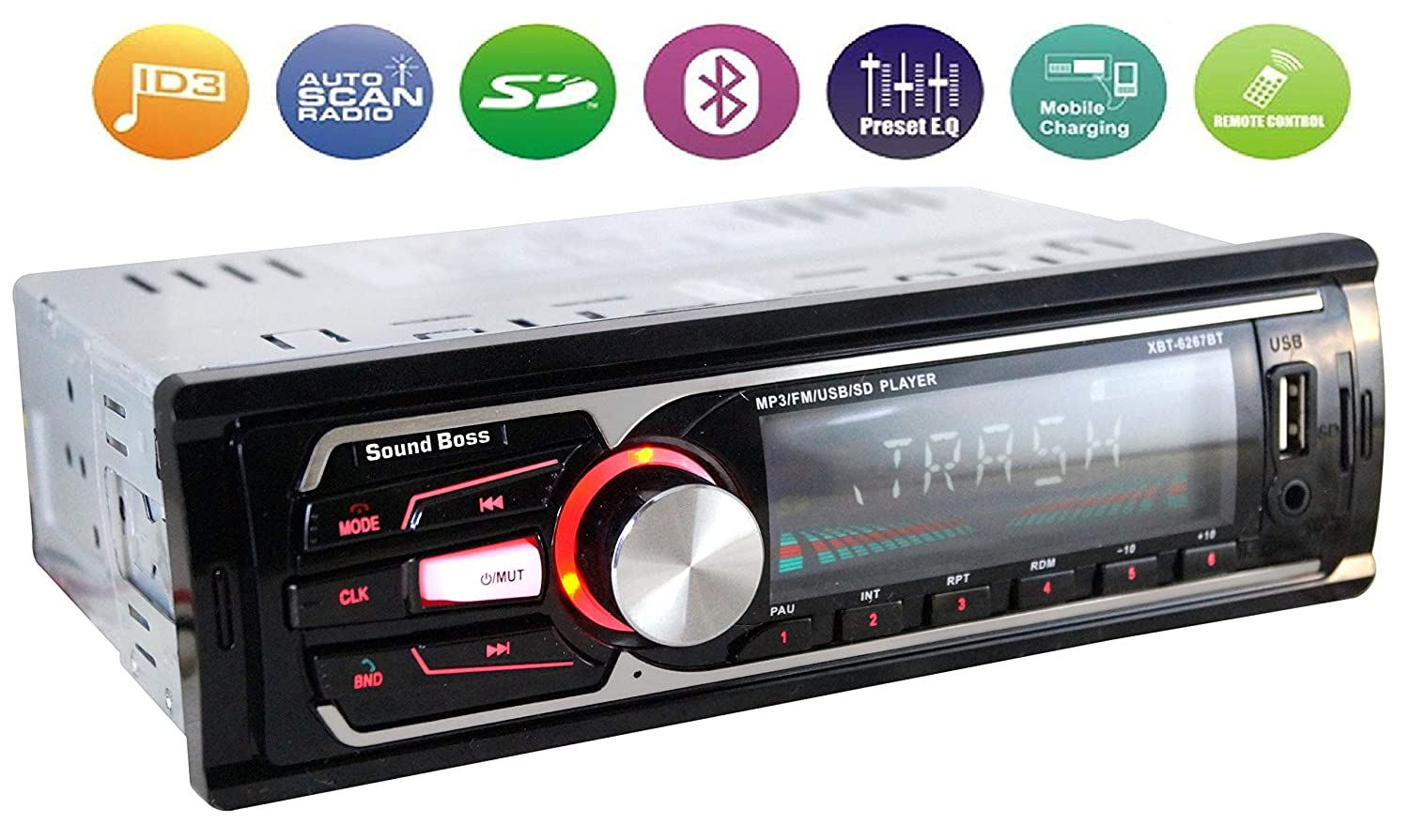 Sound Boss Sb 49 Car Stereo With Bluetooth Amazonin Electronics