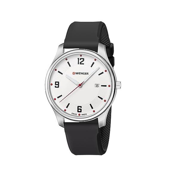 Wenger/SwissGear Reloj Analogico para Unisex de Cuarzo con Correa en Silicona 01.1441.108: Amazon.es: Relojes