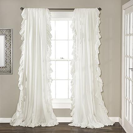 Lush Decor Reyna Window Curtain Panel Pair 84quot X 54quot