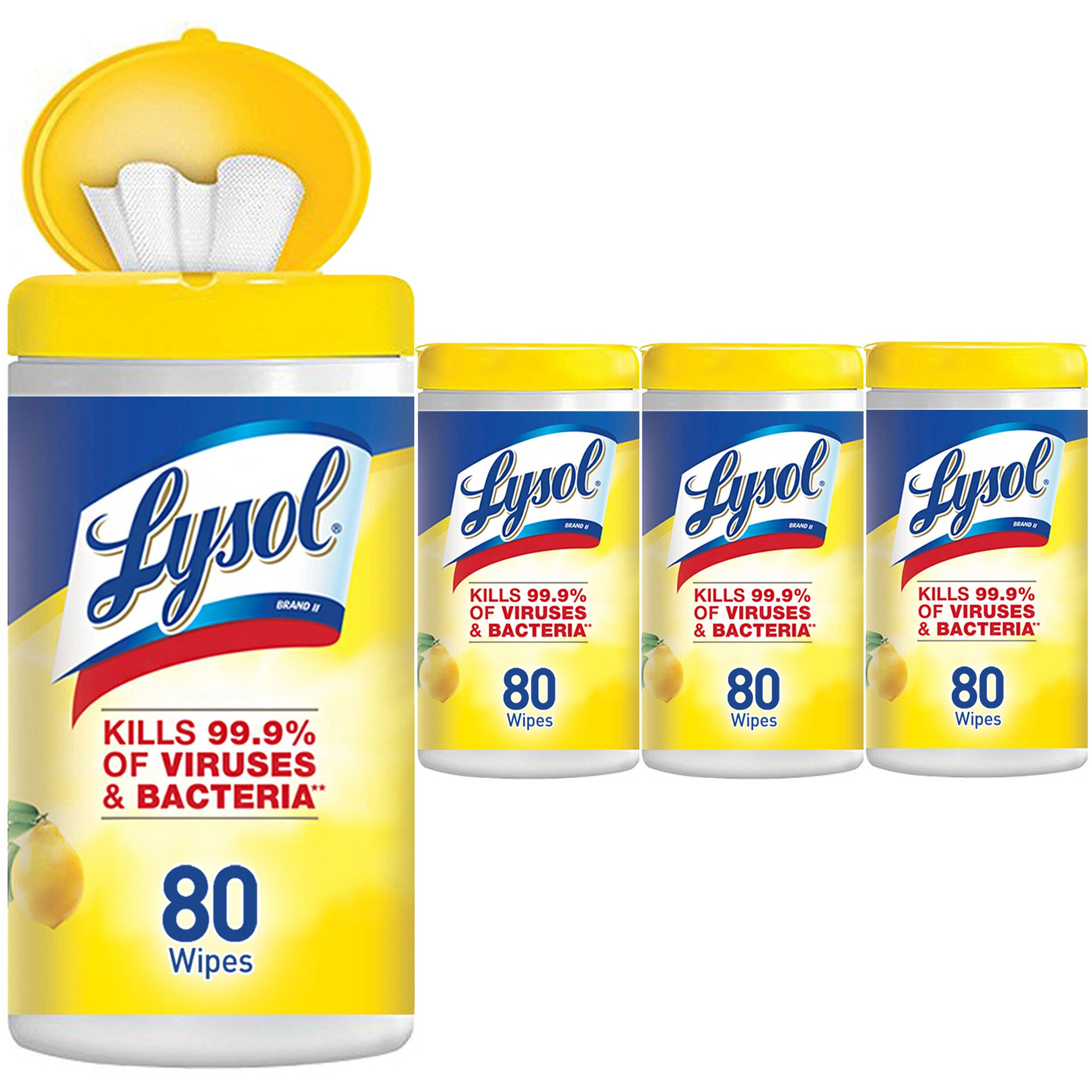 Lysol Disinfecting Wipes, Lemon & Lime Blossom, 320ct (4x80ct) by Lysol