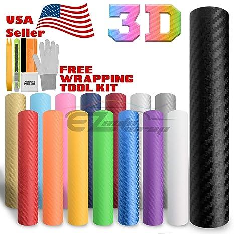 """*60/""""x120/"""" 3D Matte Silver Carbon Fiber Textured Car Vinyl Wrap Sticker Decal"""