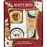 Burt's Bees Best of Burt's Holiday Gift Set, 3 Hand & Feet Products – Coconut Foot Cream, Almond Milk Hand Cream and Lemon Butter Cuticle Cream