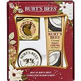 Burt's Bees Best of Burt's Holiday Gift Set, 3 Hand & Feet Products – Coconut Foot Cream, Almond Milk Hand Cream and Lemon Butter Cuticle Cream