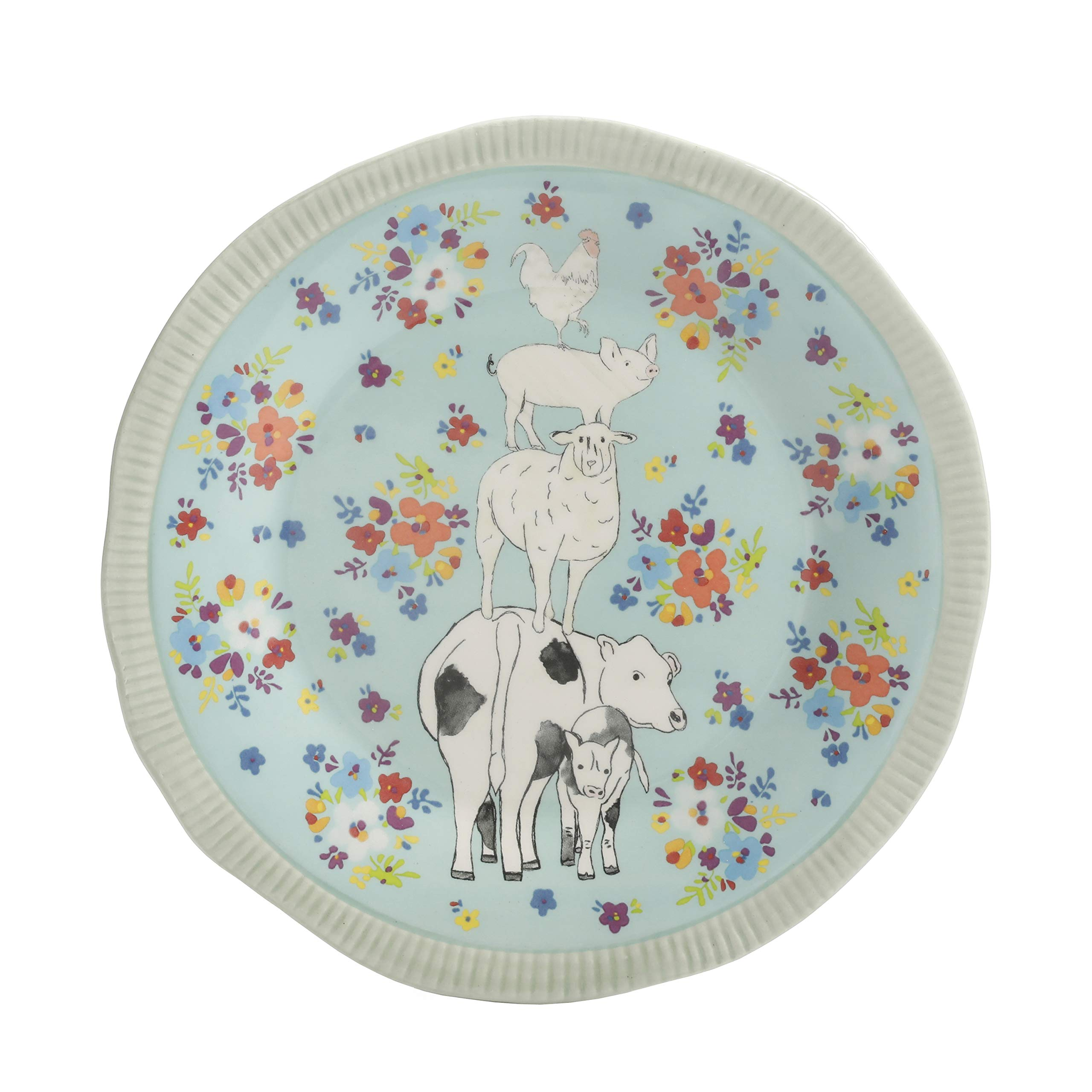 Urban Market by Gibson 99869.12RM Life on the Farm 12pc dinnerware set, Blue/White by Urban Market by Gibson (Image #4)