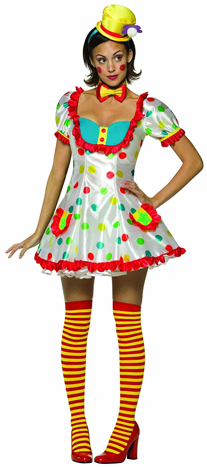 Amazon.com Adult Colorful Female Clown Costume (One size fits ladies size 4-10) Clothing  sc 1 st  Amazon.com & Amazon.com: Adult Colorful Female Clown Costume (One size fits ...