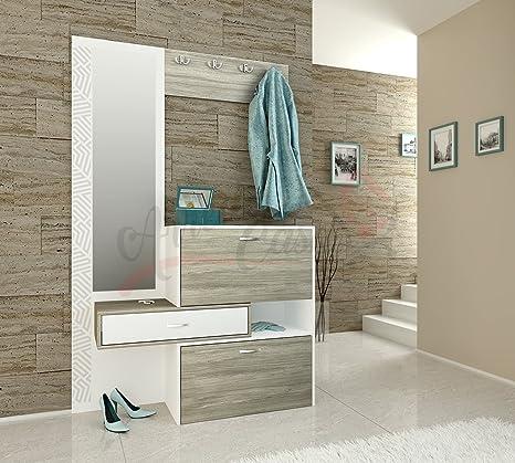 ARREDO DA CASA Mobile per Ingresso con Specchio MOD II4001: Amazon ...
