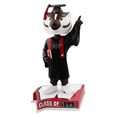 Forever Collectibles Bucky Badger Wisconsin Badgers Graduation Special Edition Bobblehead: Toys & Games
