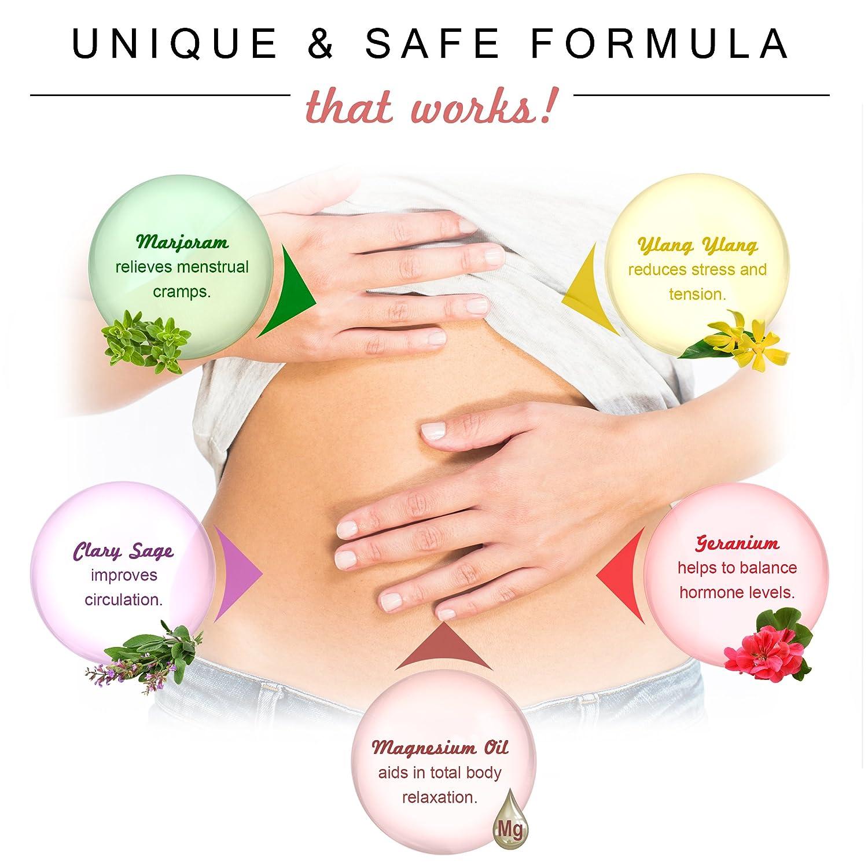 ... de 120ml: Alivio natural para los calambres menstruales y apoyo para síndrome premenstrual con cloruro de magnesio iónico y aceites esenciales orgánicos ...