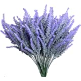 Aplstar Artificial Flowers Lavender Bouquet in Purple Artificial Plant for Home Decor, Wedding,Garden,Patio Decoration,4 Bundles