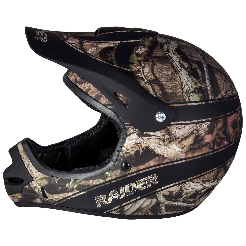 Raider Youth Kids Boys Girls Ambush MX Off-Road Helmet Mossy Oak Break Up Infinity, Small