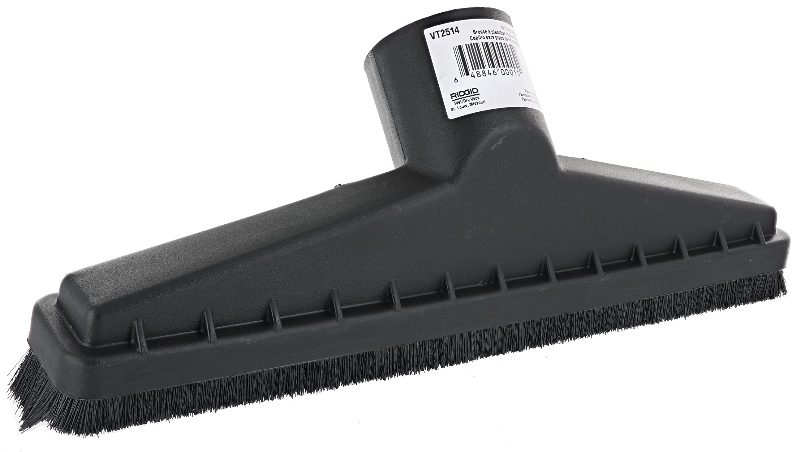 Ridgid VT2514 2.5 Inch Diameter and 14 Inch Wide Floor Brush Accessory for Ridgid Wet and Dry Vacuums by Ridgid