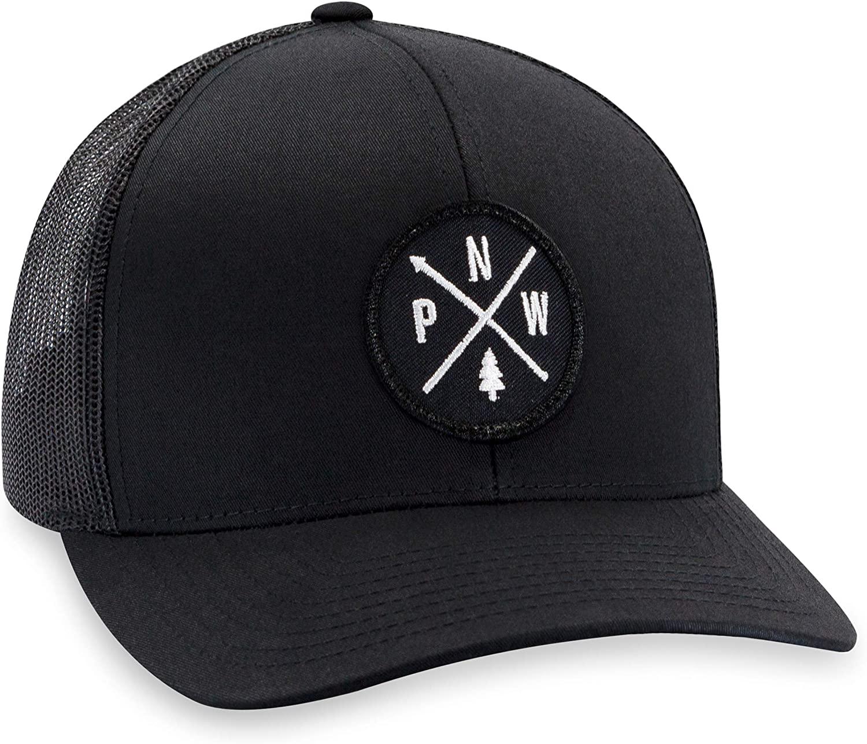 Black PNW Hat Pacific Northwest Trucker Mesh Snapback Baseball Cap