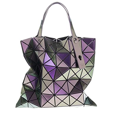 3d8673fc57ec Bao Bao By Issey Miyake Women s Lucent Metallic Tote Purple  Amazon ...