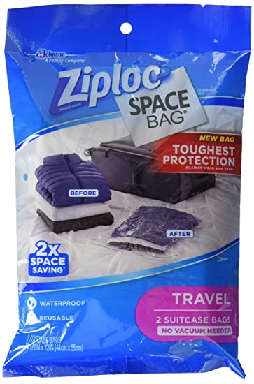 Amazon Com Ziploc Space Bag Travel Bags Poly Pack 2 Pack