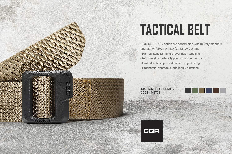 CQR CLSL CQ-MZT01-KHK_L(w36-38) Tactical Belt 100% Full ...