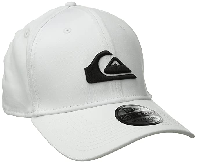 new style 6e0cf 8bc16 Quiksilver Men s Mountain and Wave Colors New Era Hat, White, Small Medium