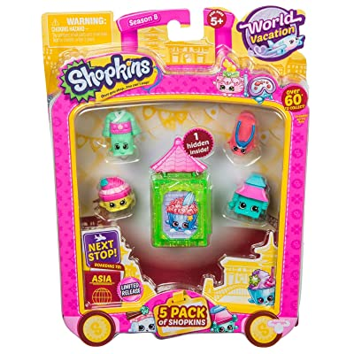 Shopkins S8 W2 Asia Toy 5 Pack: Toys & Games