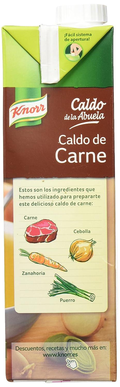 Knorr - Caldo Abuela Carne 1000 ml - Pack de 6 (Total 6000 ml): Amazon.es: Alimentación y bebidas