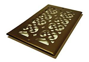 Decor Grates SP610R-RB Scroll Plated Return, 6-Inch by 10-Inch, Rubbed Bronze