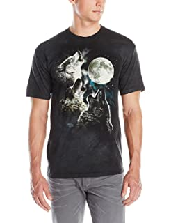 Amazon.com  The Mountain Adult Unisex T-Shirt - Three Wolf Moon ... d004719b9