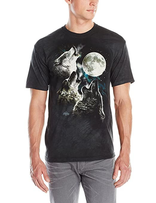 3138350c7db Amazon.com  The Mountain Adult Unisex T-Shirt - Three Wolf Moon Classic   Clothing