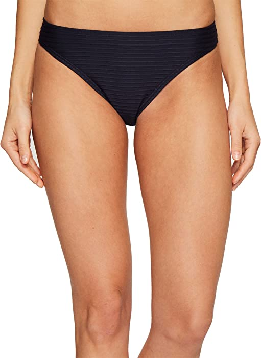 9fc0d6c082f80 MICHAEL Michael Kors Women s Graphic Rib Classic Bikini Bottom New Navy Swimsuit  Bottoms