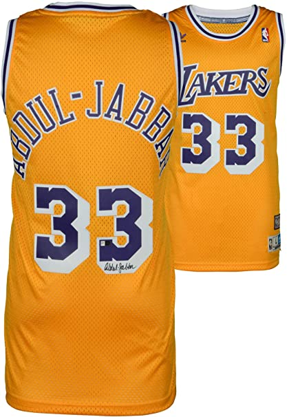 check out 89313 cdf8e Kareem Abdul-Jabbar Los Angeles Lakers Autographed Gold ...