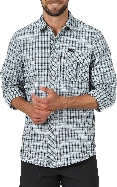 ATG by Wrangler Men's Long Sleeve Plaid Utility Shirt