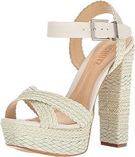 8cac9c0da9bd SCHUTZ Avon Nude Taupe Natural Snake Suede Peep Toe Thick Heel Retro Pump  Sandal · 5.0 out of 5 stars 1 ·  99.99 · Schutz Women s Lorah Dress Sandal